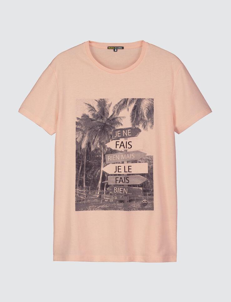 T-shirt photoprint Je ne fais rien mais je le fais