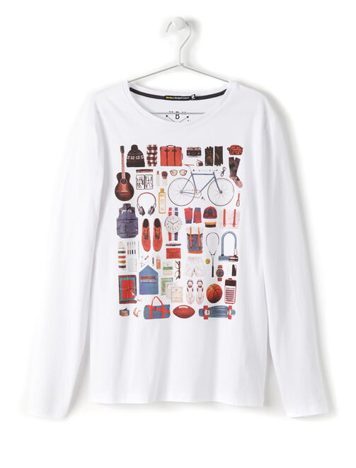 T-shirt photoprint panoplie hipster homme