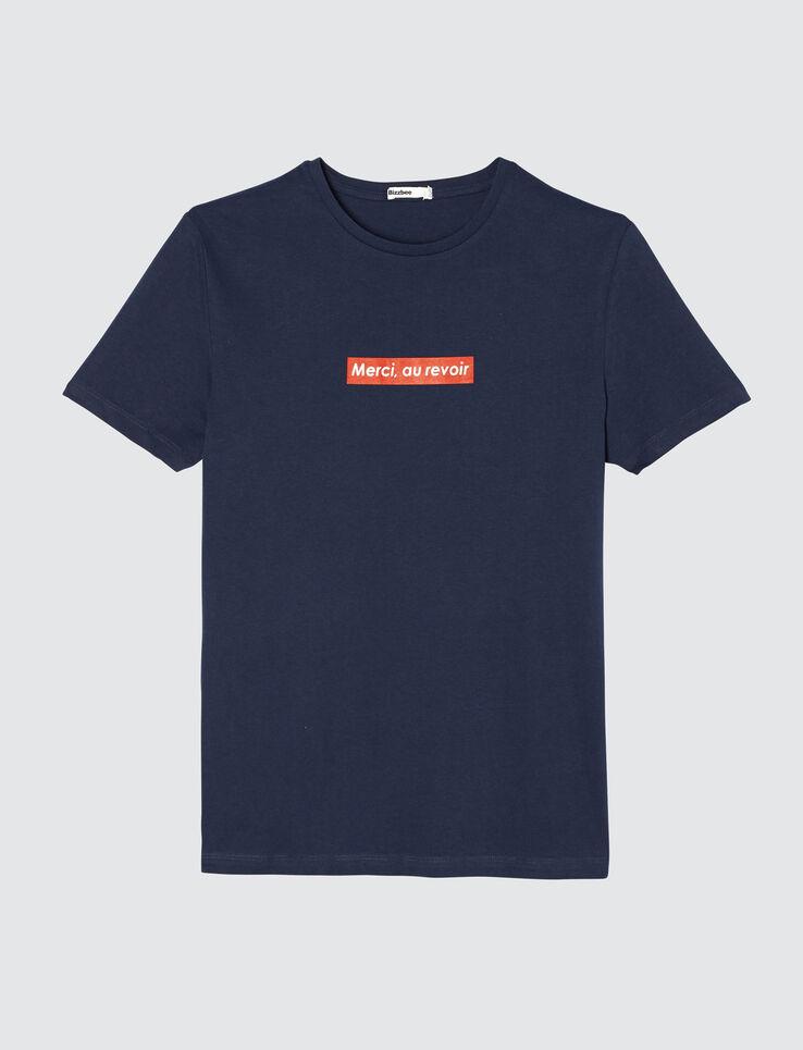 """T-shirt à message """"Merci au revoir"""""""