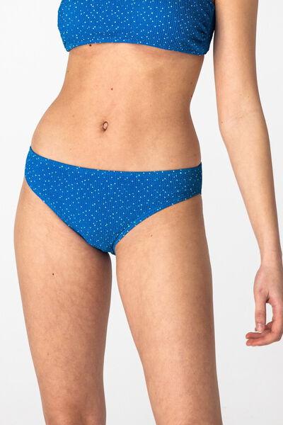 Bas de maillot de bain culotte plissée pois