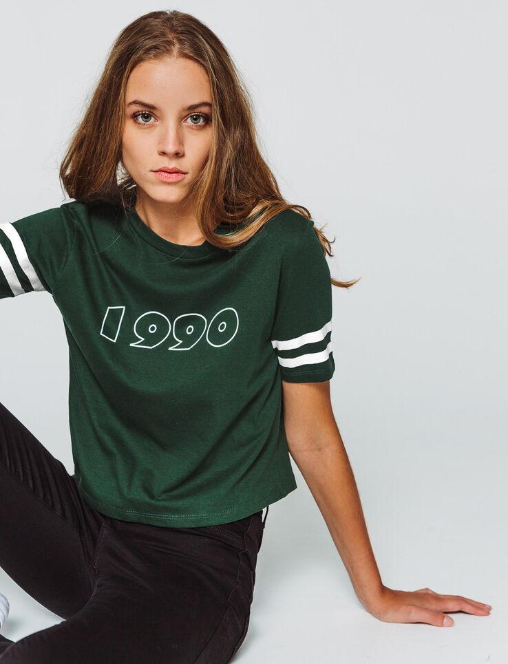 T-shirt bandes imprimées 1990