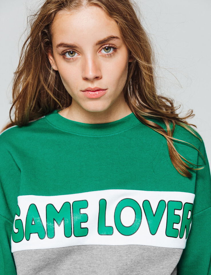 "Sweat colorblock "" GAME LOVER"""