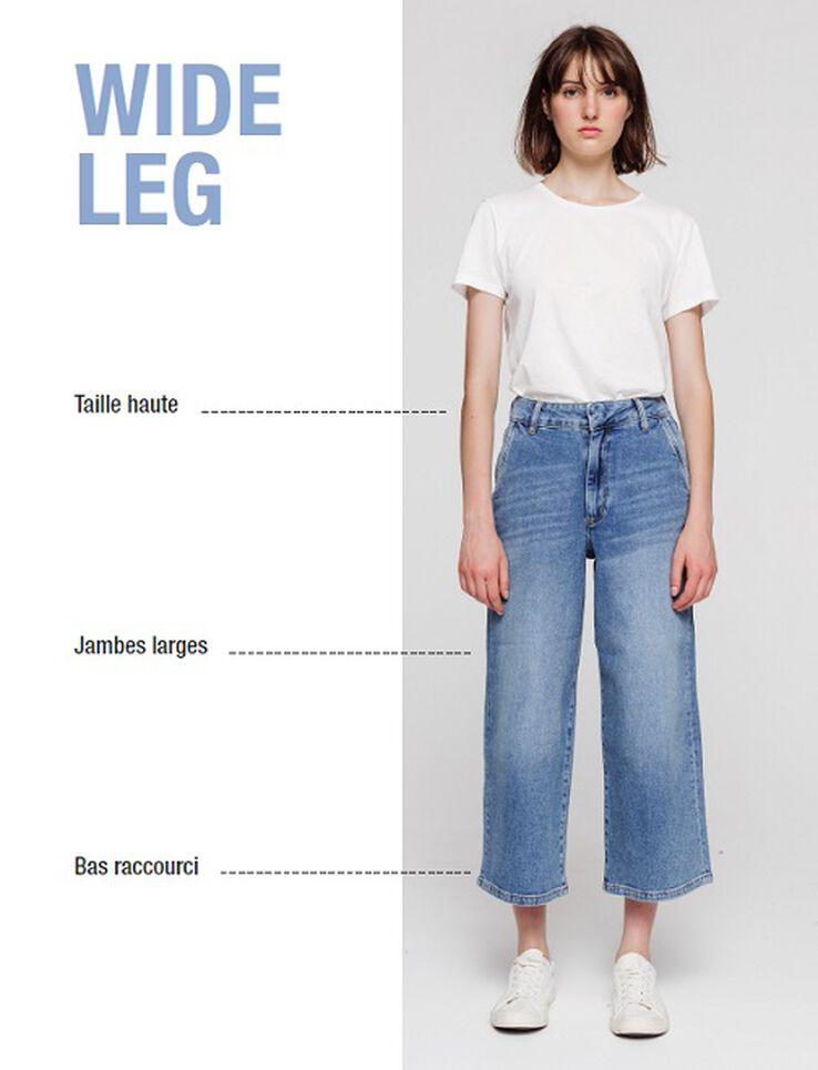 Jean ceinturé noué  taille haute jambes larges