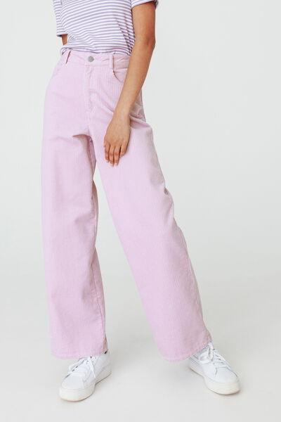 Pantalon Velours Wide Leg Coton recyclé