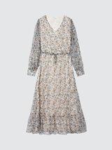Robe longue col V