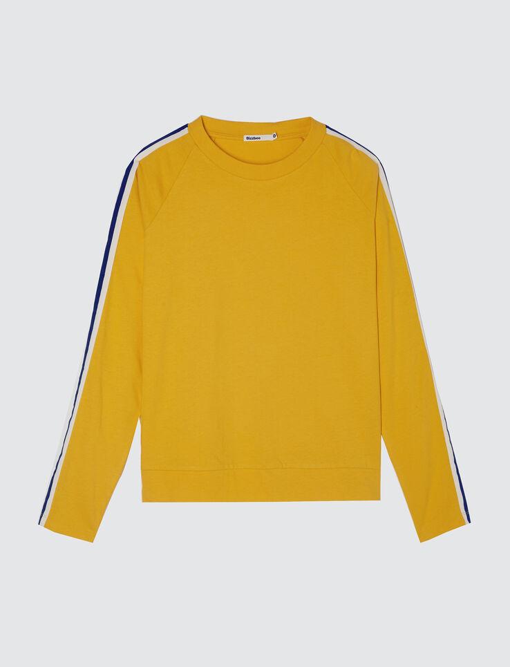 T-shirt manches longues bandes sport