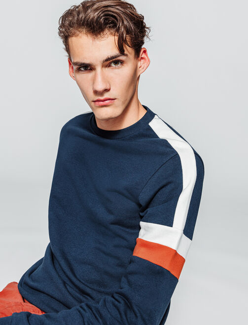 Sweat enfilé colorblock homme