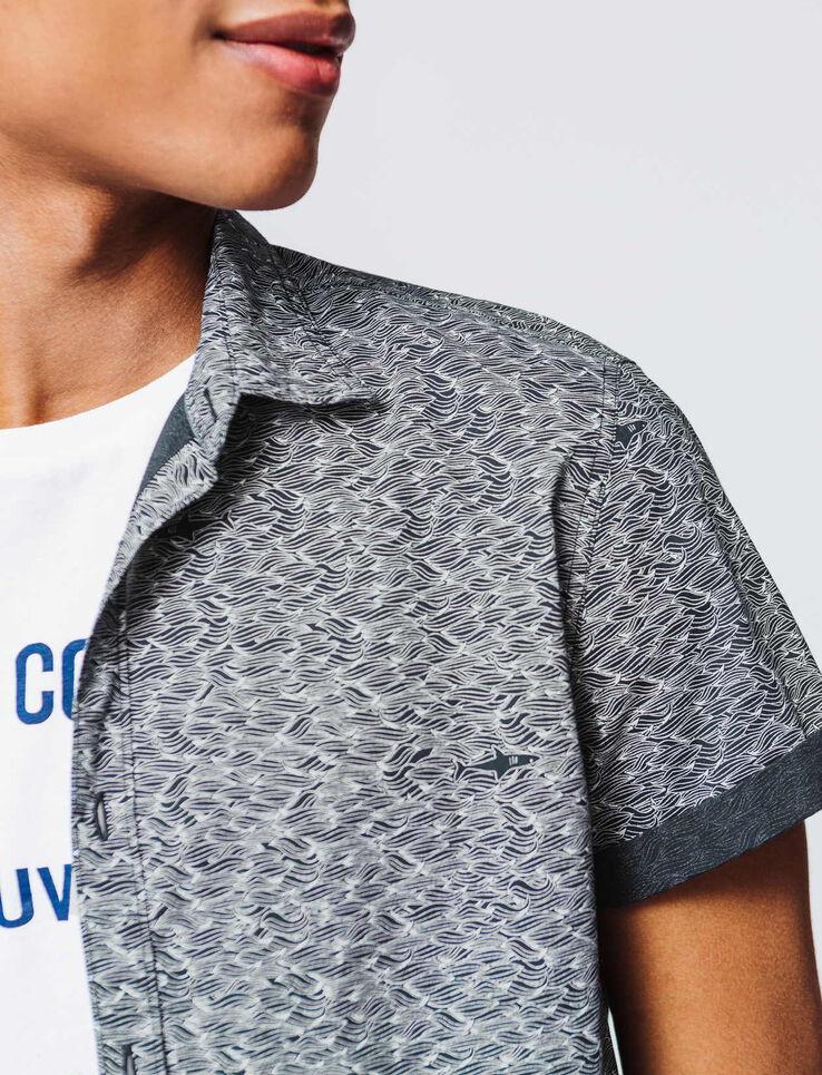 Chemise manches courtes minimaliste