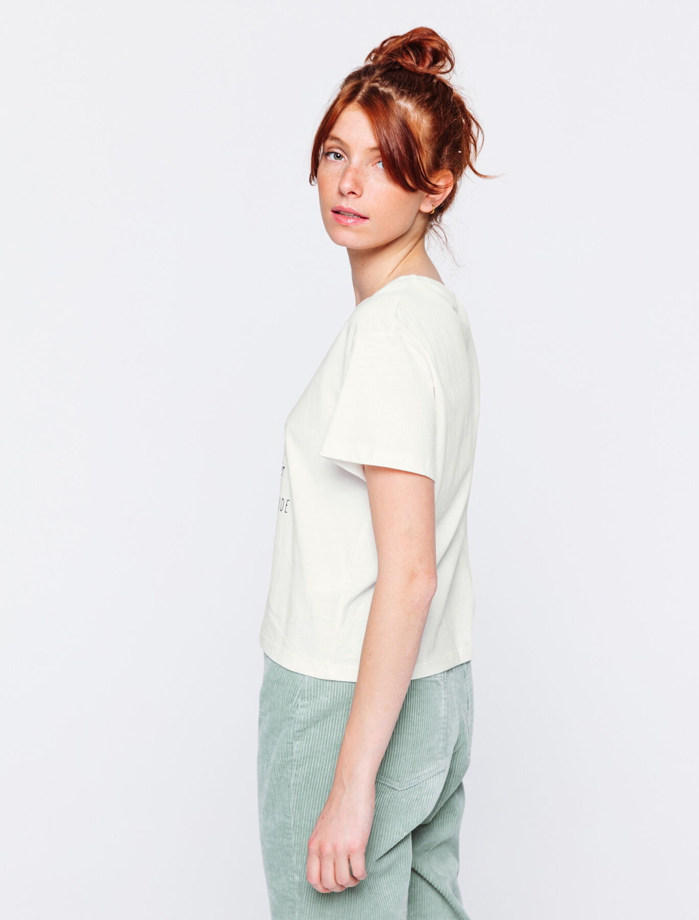 T-shirt en coton bio chat yoga
