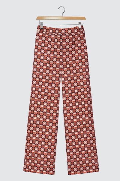 Pantalon Imprimé Polyester Recyclé
