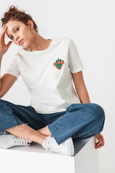 T-shirt brodé St Valentin en coton bio
