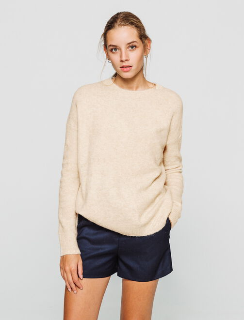 Pull maille fine douce  femme