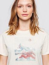 T-shirt imprimé montagnes