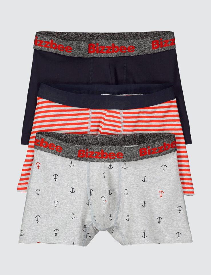 Lot de 3 boxers ancres