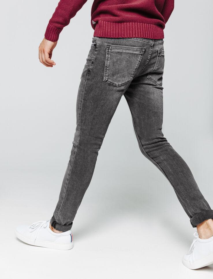 Jean skinny noir délavé