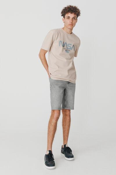 Bermuda jean gris en coton recyclé