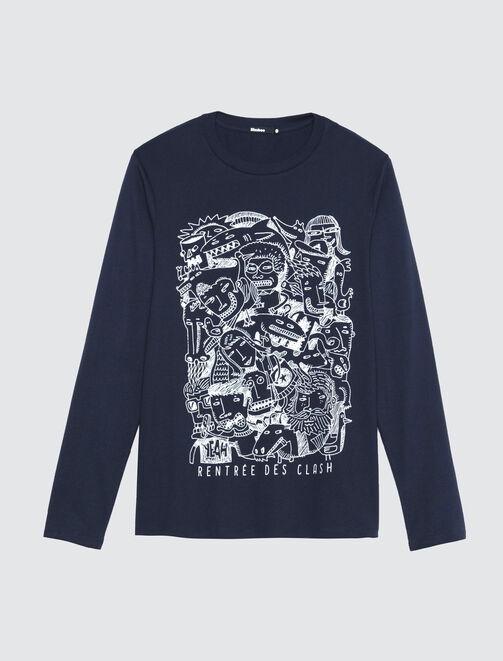 T-shirt imprimé multi-dessins ludique homme