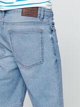 Bermuda en jean bleach vintage