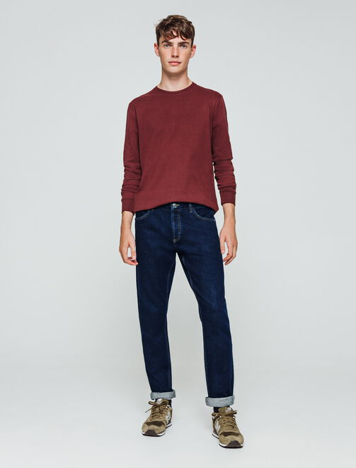 Jean selvedge coupe straight homme