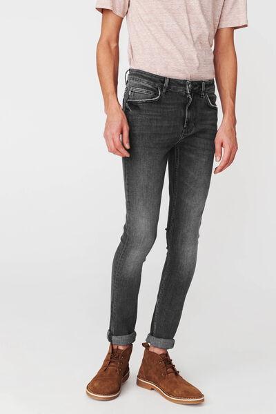 Jean skinny noir en coton recyclé