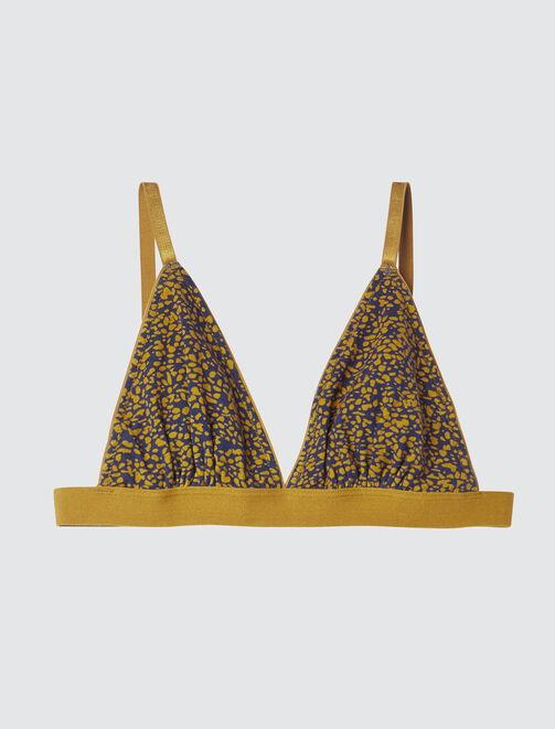 Soutien Gorge Triangle Imprimé  femme