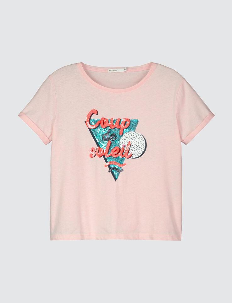 """T-shirt cropped message """" Coup de soleil"""""""