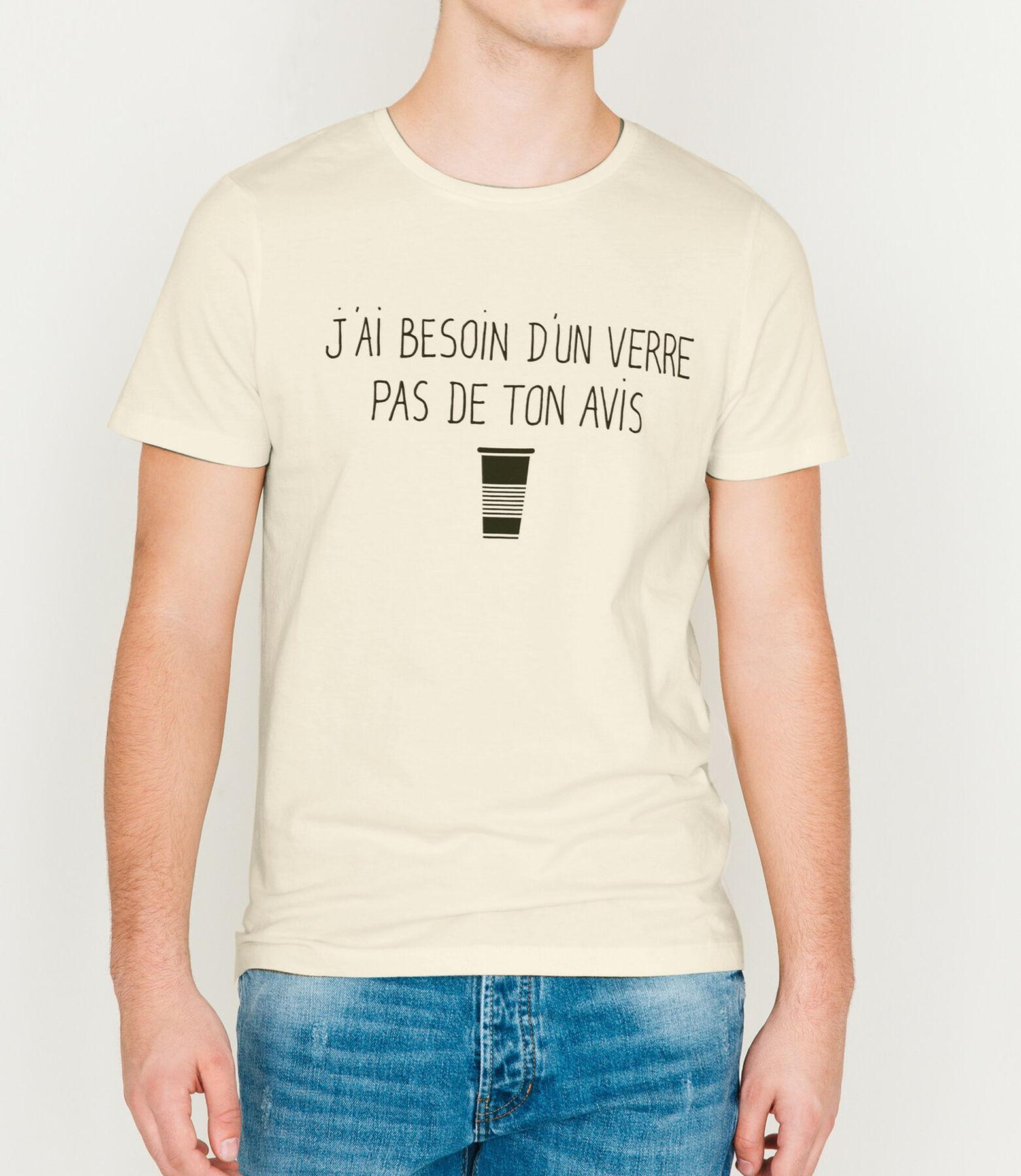 "T-shirt à message ""Besoin d'un verre..."""