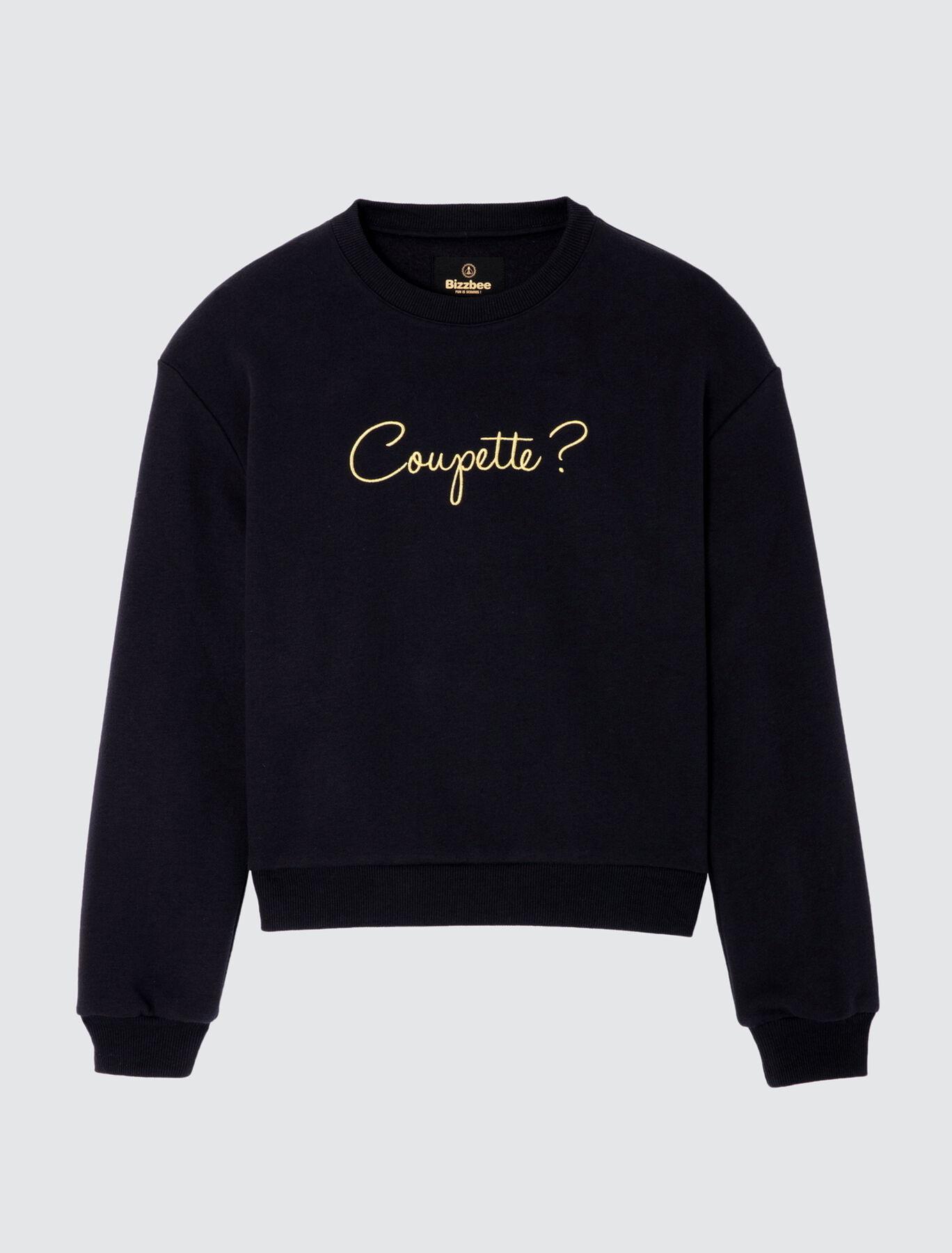 """Sweat col rond """"Coupette"""" en polyester recyclé"""
