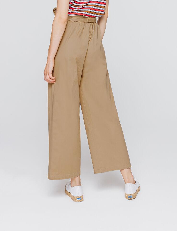 Pantalon large taille haute