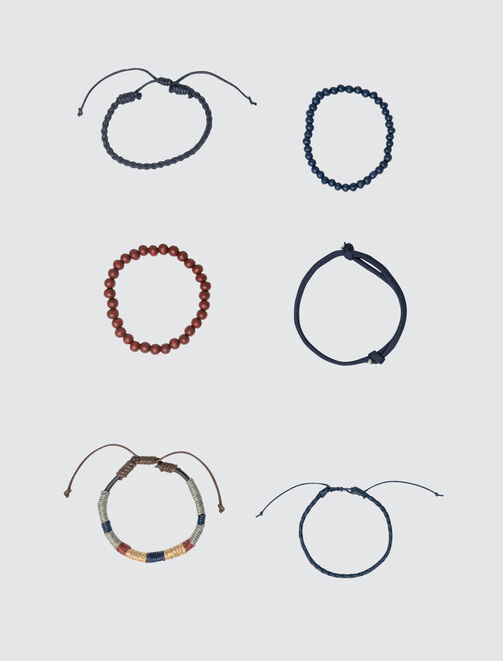 Set de Bracelets Marine et Rouille homme