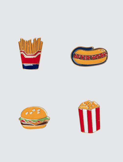 Set de Pins Food  femme