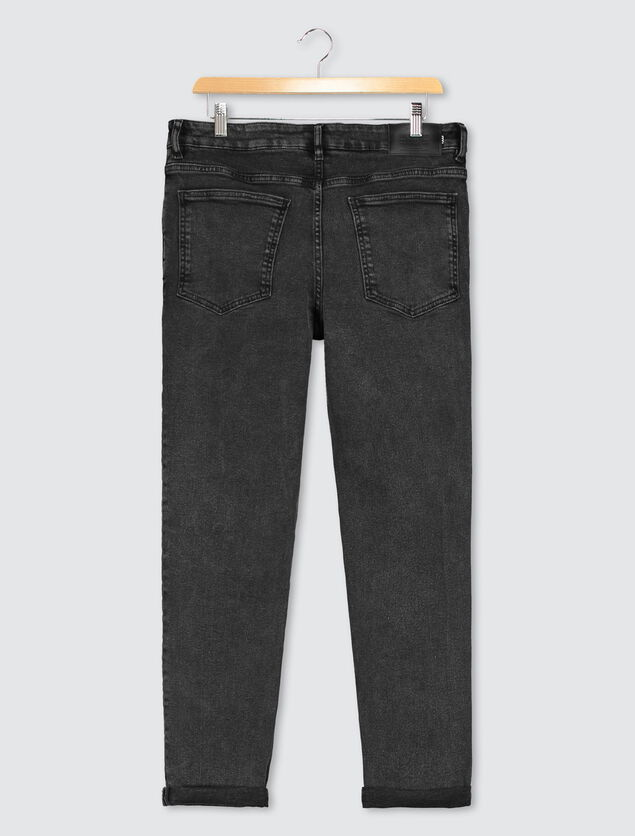 Jean straight tapered delavé