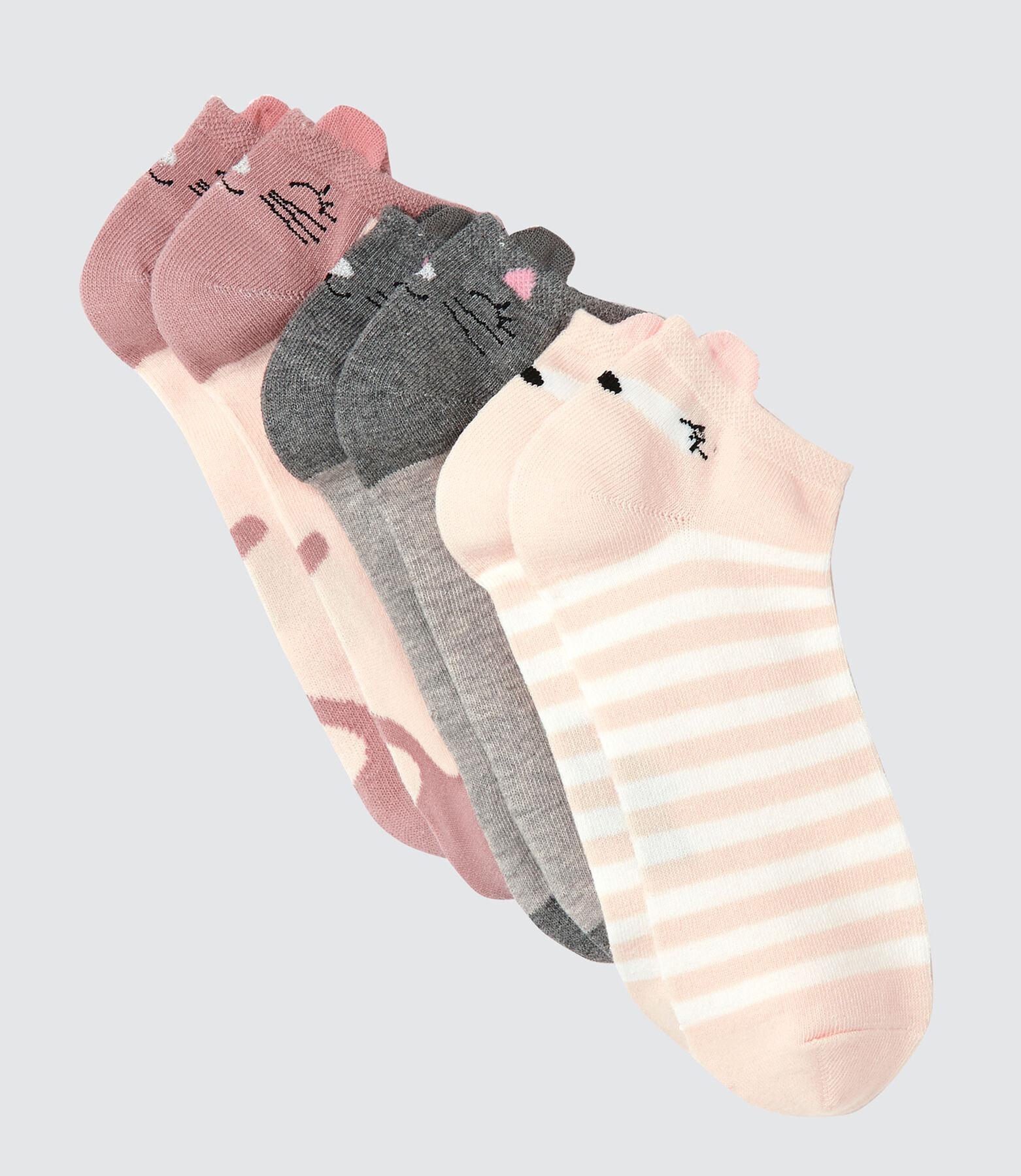 Lot de 3 Socquettes Animaux