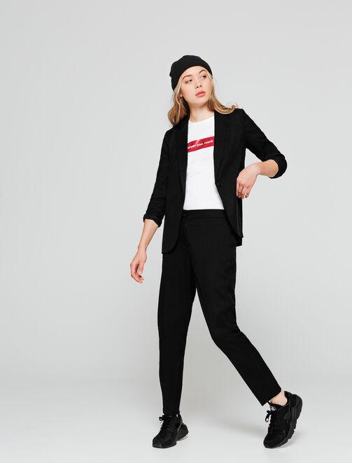 Veste tailleur longue femme