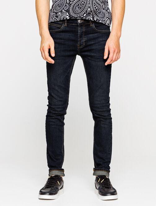 Jean skinny basique rinse blue homme