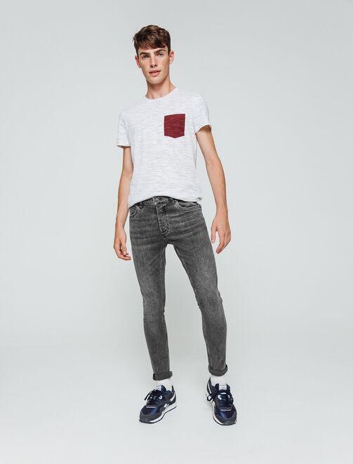 Jean skinny cropped noir homme