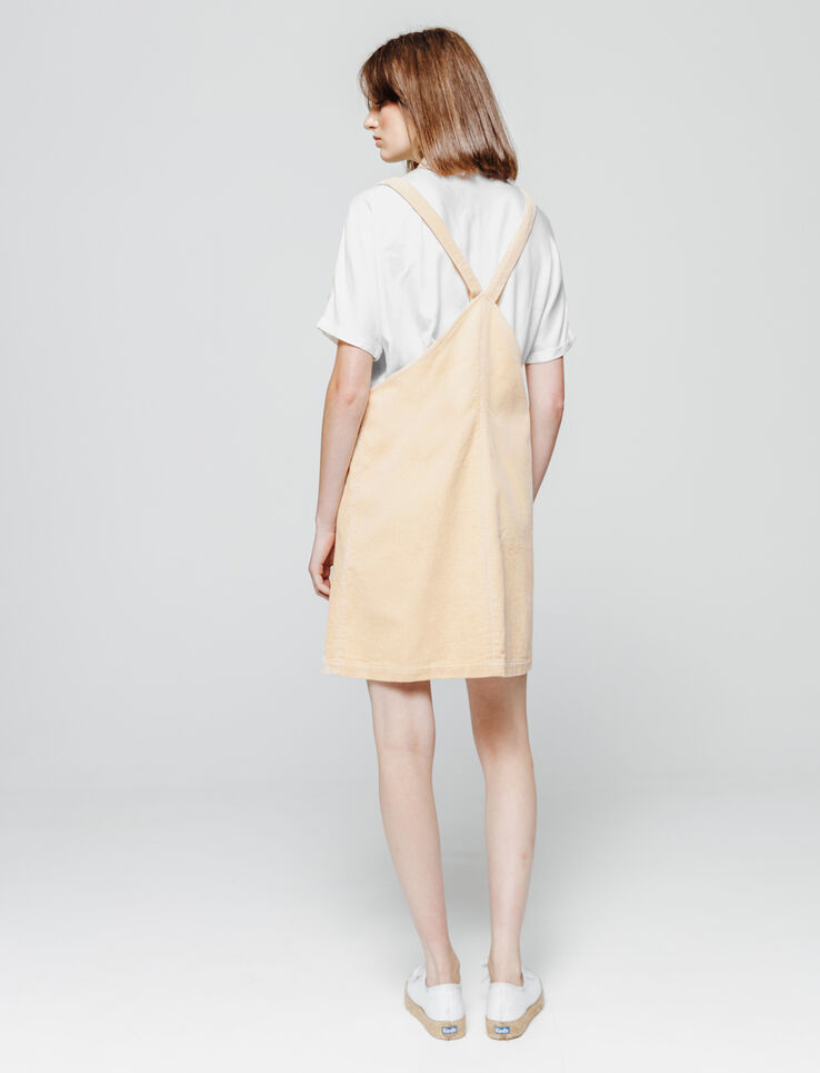Robe salopette velours