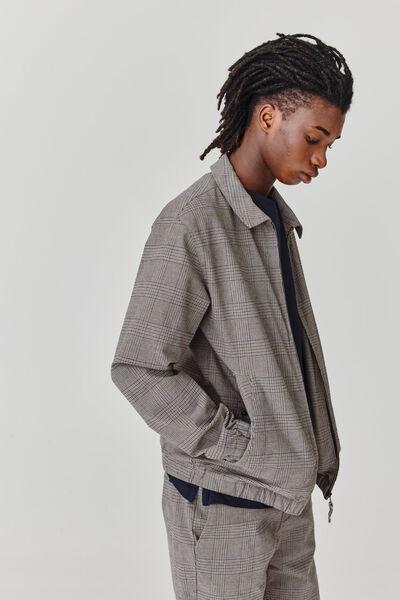 Blouson col chemise zippé