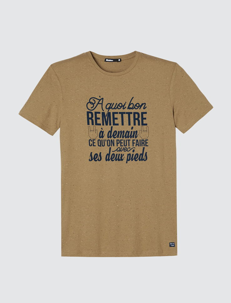 """T-shirt message """"A quoi bon..."""""""