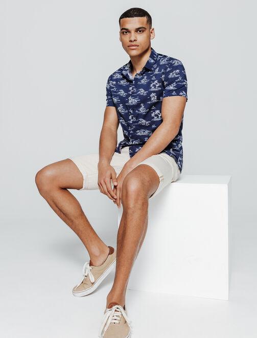 Chemise manches courtes imprimée Hawaï homme