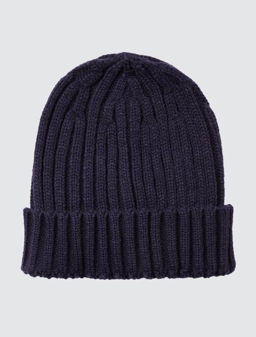 Bonnet Basique Tricot à Côtes homme