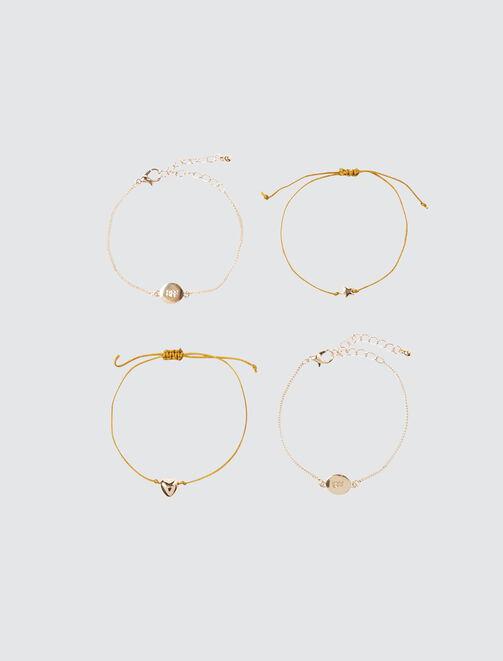 Set 4 Bracelets BFF femme