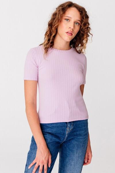 T-shirt à côtes plates bio
