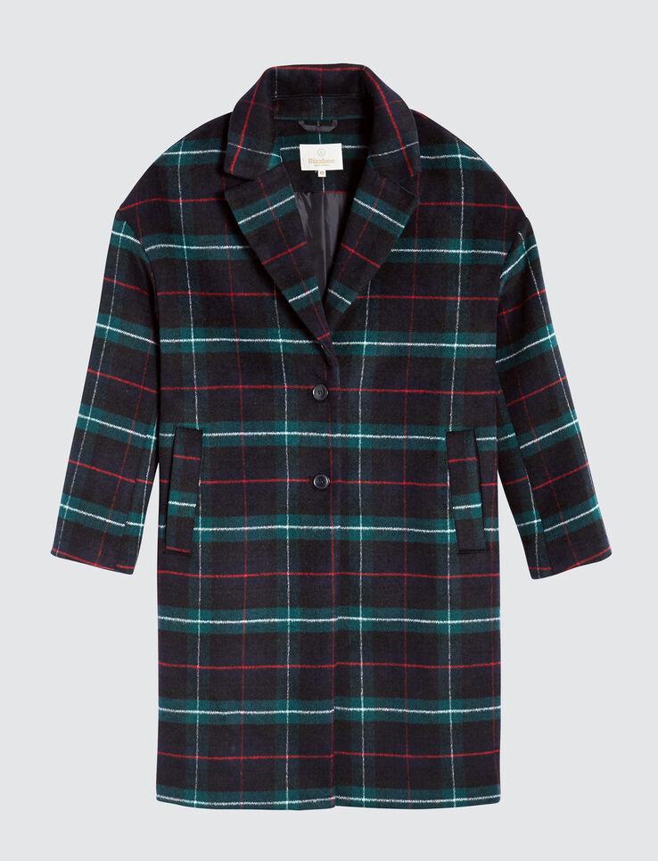 Manteau à carreaux en laine