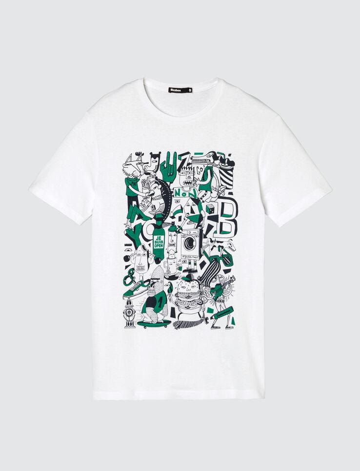 T-shirt print placé graph dessiné