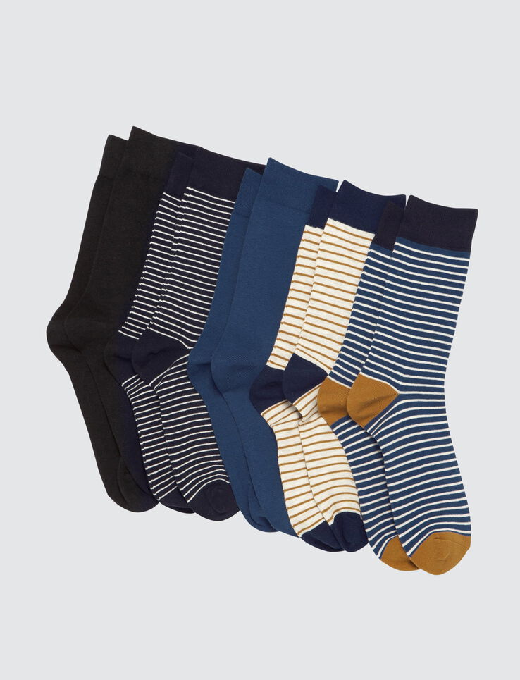 Lot*5 Chaussettes Hautes Rayures