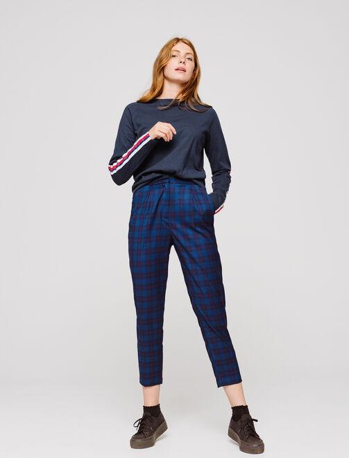T-shirt manches longues bandes sport femme