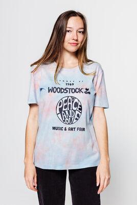 T-shirt licence tie & dye Woodstock