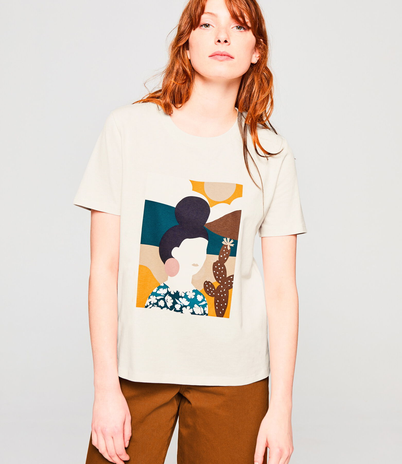 T-shirt imprimé visage