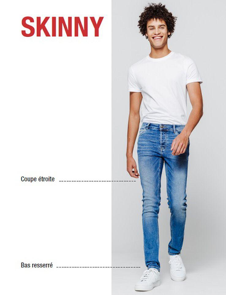 Jean skinny destroy clair